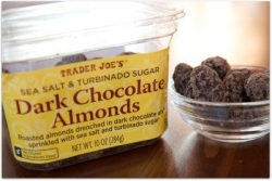 dark choc almonds