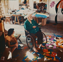 Matisse in his studio at the Ho?tel Re?gina, Nice, c1952.