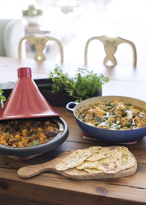 both tagines and flatbread