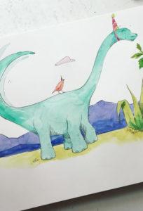 Dinosaur drawn by Miss Coates